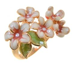 Gorgeous Floral Silver Ring