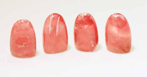 Rhodochrosite Tall Cabochons - Lot of 4