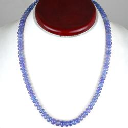 Natural Tanzanite Strand Necklace