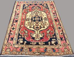 Charming Mid-20th C. Handmade Authentic Vintage Persian Ferahan