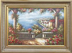 MEDITERRANEAN SCENE OIL PAINTING ON CANVAS