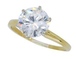 GIA Certified Huge 2.01CT VS2 Diamond Engagement Ring