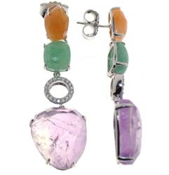 Stunning Sterling Silver Earrings with Gemstones
