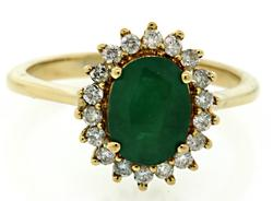 The Classic Beauty of an Emerald & Diamond Halo Ring