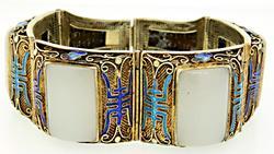 Colorful Sterling & Enamel Bracelet