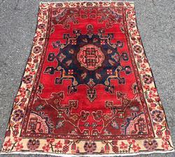 Charming Rare Mid-20th C. Hand Woven Vintage Persian Tafresh Rug