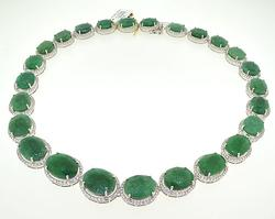 Dazzling Green Beryl (Emerald) Necklace
