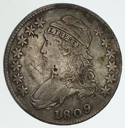 1809 Capped Bust Half Dollar - Circulated O-114
