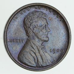 1909 V.D.B. Lincoln Wheat Cent - Circulated