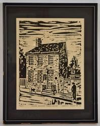 Limited Edition Block Print on Paper by Carroll Kehne