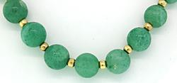 Natural Aventurine Beads Necklace