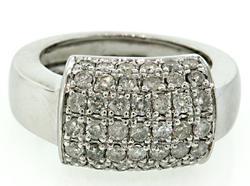 Pave Top Diamond Ring