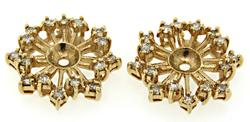 Diamond Snowflake Earring Jackets