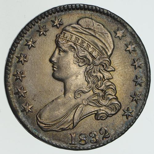 1832 Capped Bust Half Dollar O 117 Not Circulated