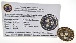 Intricate Diamond Silver Ring