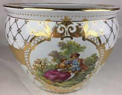 Very Rare Hand Painted lovely Porcelain Planter