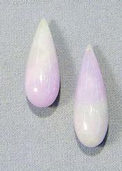 Natural Burmese Jadeite Teardrops - Lot of 2
