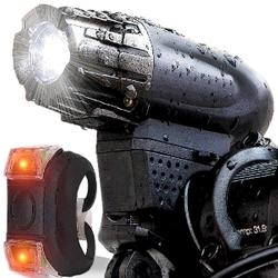 Rechargeable Ultra Bright LED Front & Rear Bike Light