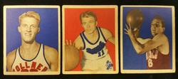1948 Bowman Basketball #9 #10 #24 Rookie HOF Lot