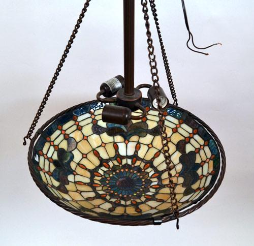 Tiffany Style 3 Light Hanging Pendant Lamp