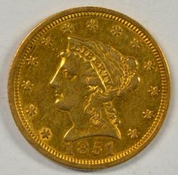 Very attractive 1851 US $2.50 Liberty Gold Piece