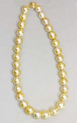 Genuine Golden South Sea Pearl Necklace