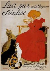 Lovely Vintage Poster - Lait Pur De La Vingearnne