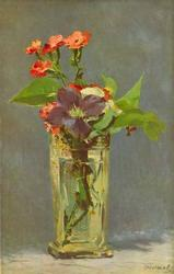 Edouard Manet - Carnations and Clematis in Crystal Vase
