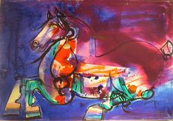 NASSER OVISSI Signed  Giclee on Museun stretched canvas