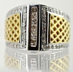 Intriguing 14K Lattice Diamond Ring