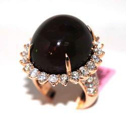 26+ctw Cabochon Opal & Diamond Ring, Stunning!