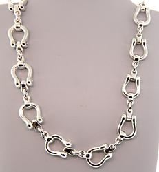 Tiffany & Co Heavy Horseshoe Necklace in Sterling
