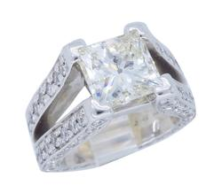 4.53CTW Princess Cut Engagement Ring