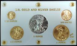 2017 US Gold & Silver Eagle Set In Display