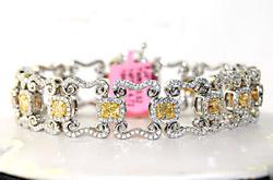 Highlight! 7+ctw Fancy Yellow & White Diamond Bracelet