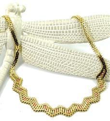 Stunning Multi-Color Gold 14K Necklace