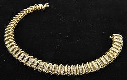 2ctw 3 Row Design Diamond Bracelet in 14kt Gold