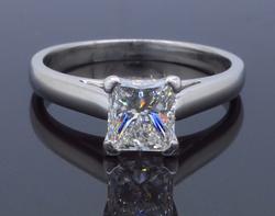 Platinum GIA Certified 1.01CT Engagement Ring