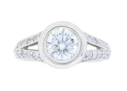 1ctw Diamond Engagement Ring in Platinum