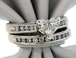 Mosaic Design Diamond Heart Bridal Set