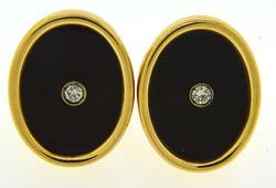 Fancy Onyx & Diamond Cufflinks