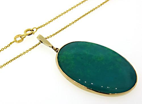 Large oval green stone pendant necklace usauctiononline large oval green stone pendant necklace aloadofball Choice Image