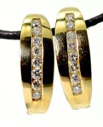 Practical Diamond Hoop Earrings