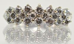 Sparkling White Gold Diamond Band