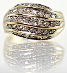 Glittering Diamond Dome Ring