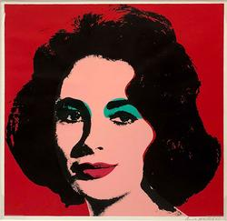 HAND SIGNED ANDY WARHOL LIZ TAYLOR