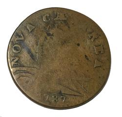 1787 New Jersey Colonial Cent M 30 L Rarity 3