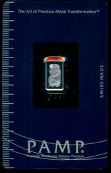 Sealed PAMP Suisse pure .9995 Platinum 1 Gram Bar