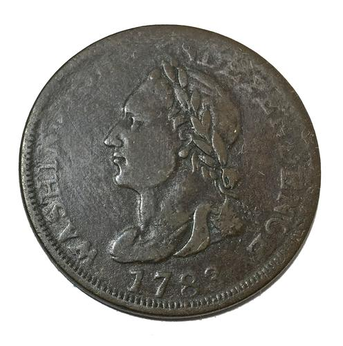 1783 Washington & Independence Draped Bust Colonial Cent