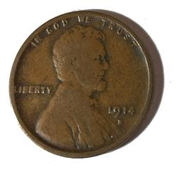 Key 1914 D Lincoln Cent